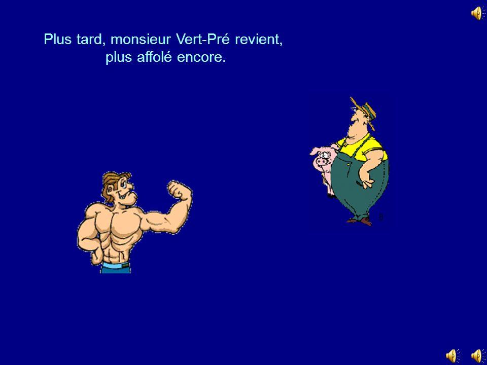 Plus tard, monsieur Vert-Pré revient,
