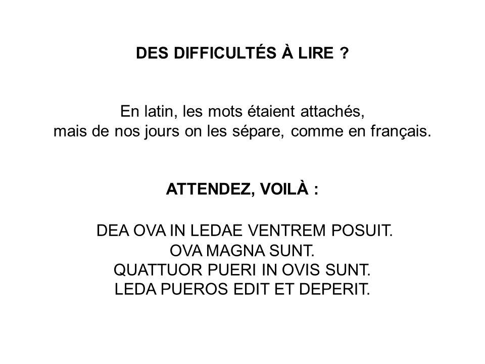 DES DIFFICULTÉS À LIRE .