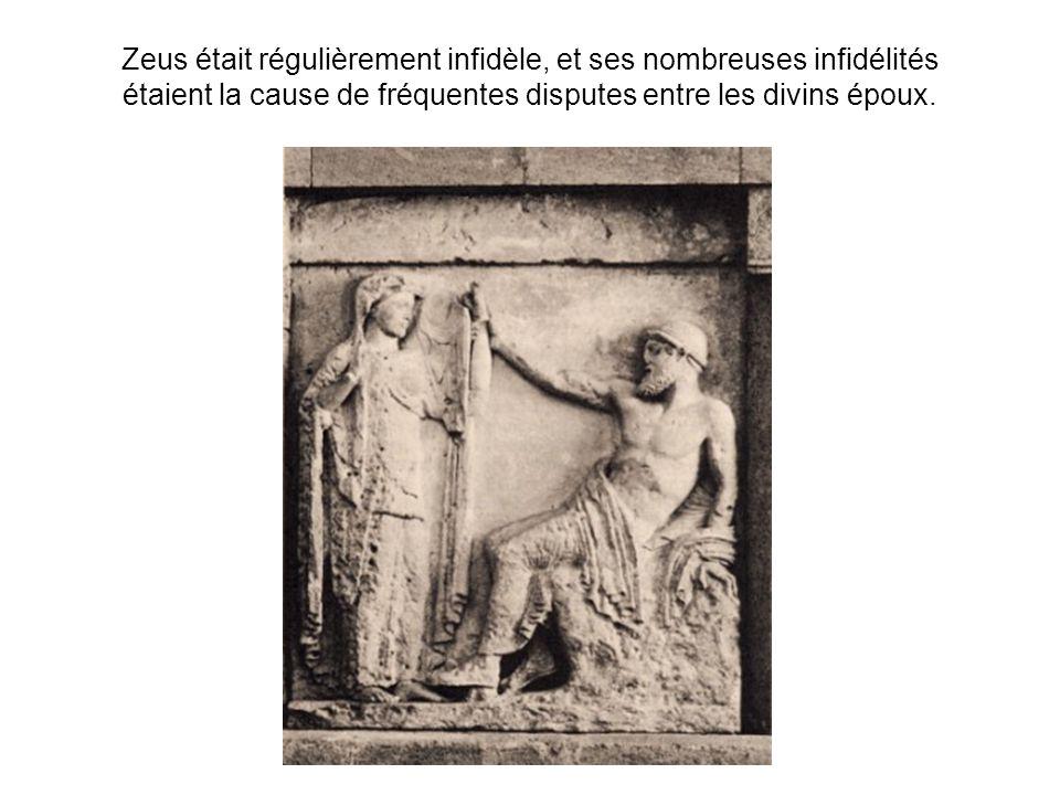 Zeus était régulièrement infidèle, et ses nombreuses infidélités