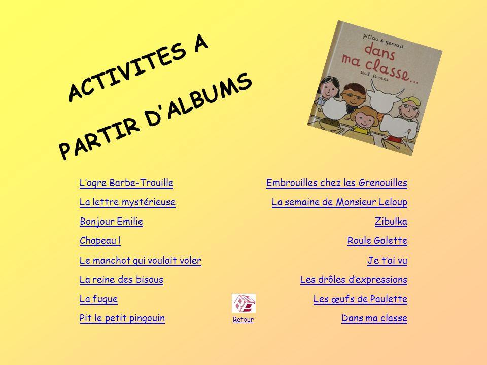 ACTIVITES A PARTIR D'ALBUMS