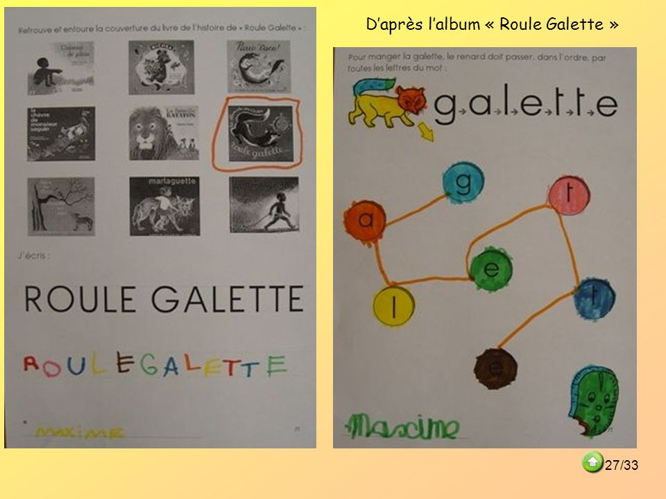 D'après l'album « Roule Galette »