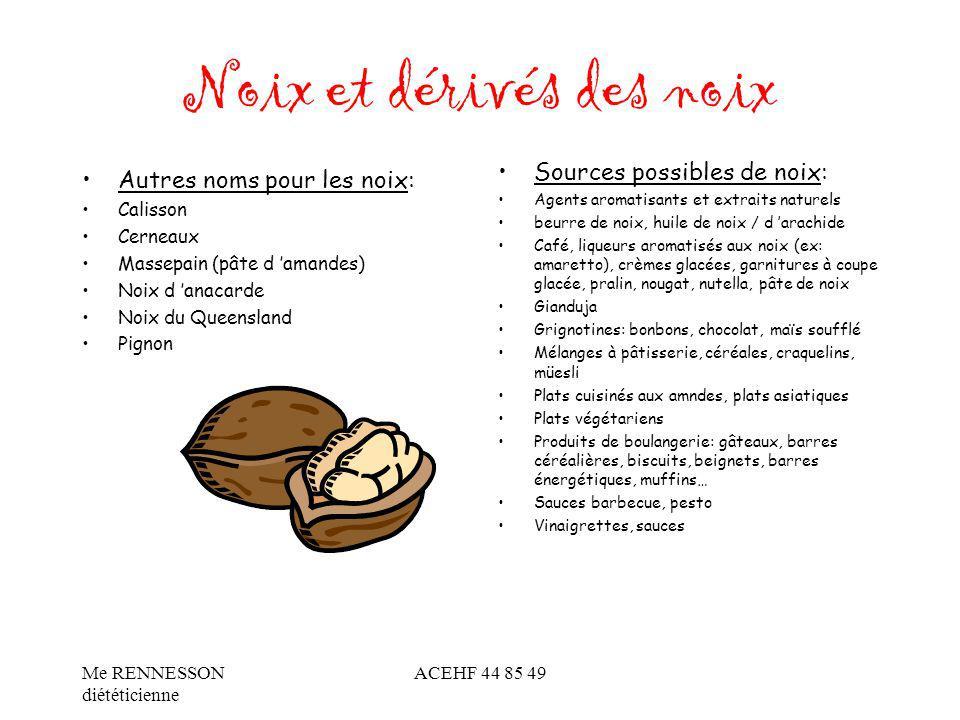 Noix et dérivés des noix