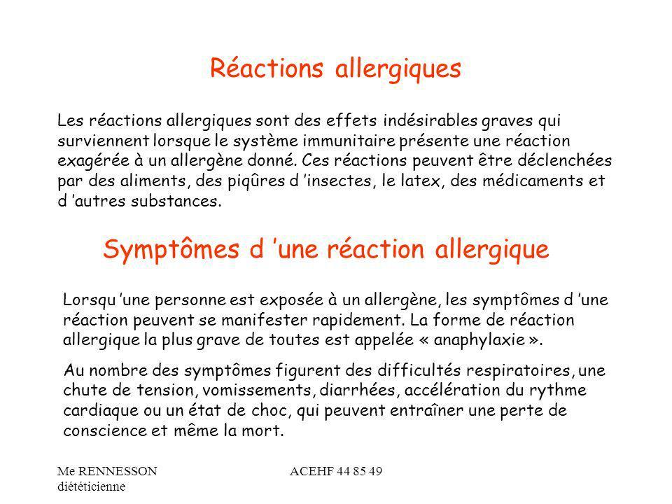 Réactions allergiques