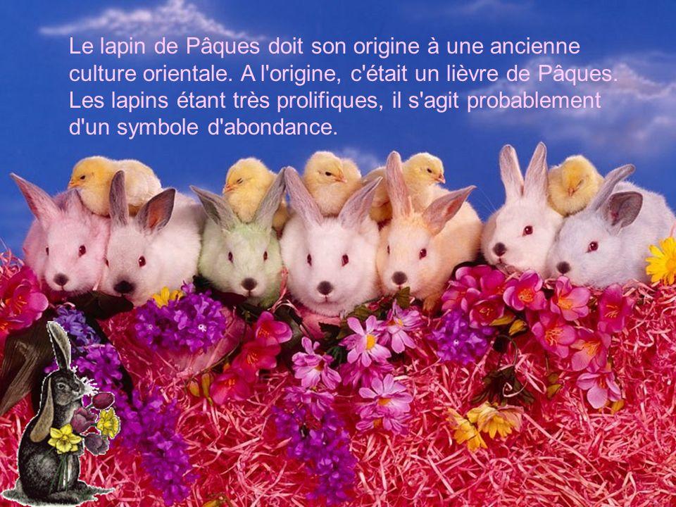Le lapin de Pâques doit son origine à une ancienne culture orientale