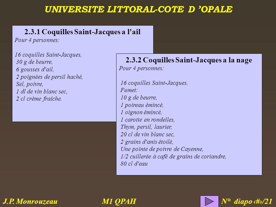 2.3.1 Coquilles Saint-Jacques a l ail