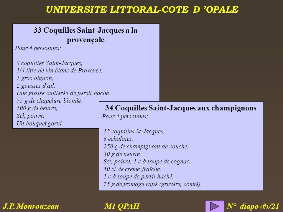 33 Coquilles Saint-Jacques a la provençale