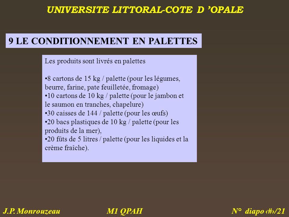 9 LE CONDITIONNEMENT EN PALETTES