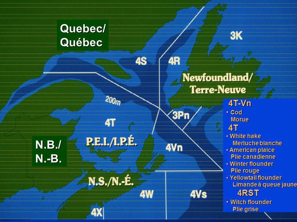 Quebec/ Québec N.B./ N.-B. 4T-Vn 4T Cod Morue