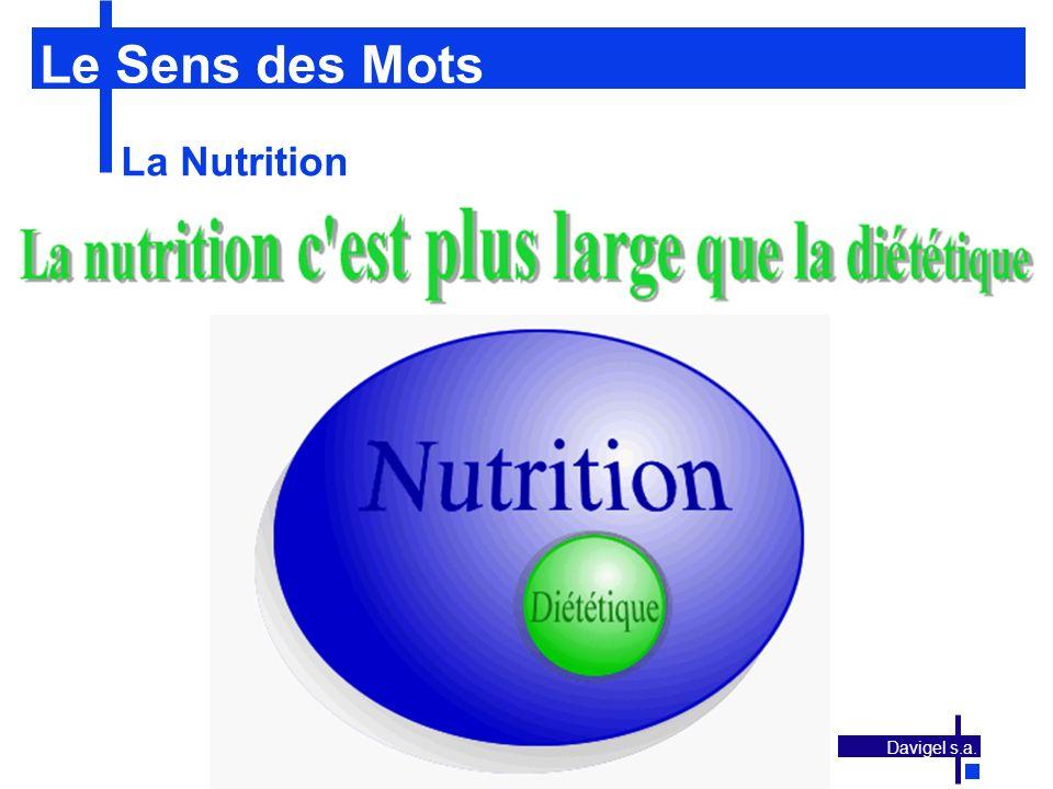 Le Sens des Mots La Nutrition Davigel s.a.
