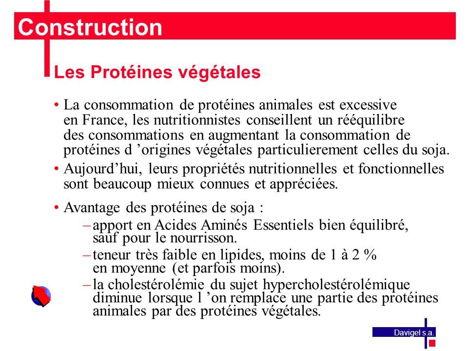 Construction Les Protéines végétales