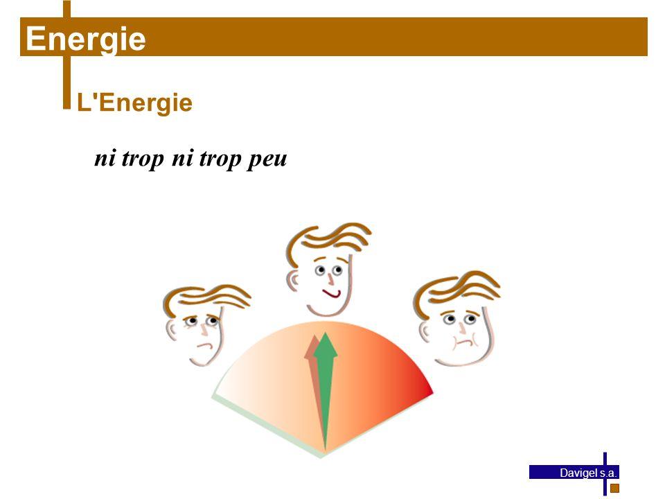Energie L Energie ni trop ni trop peu Davigel s.a.