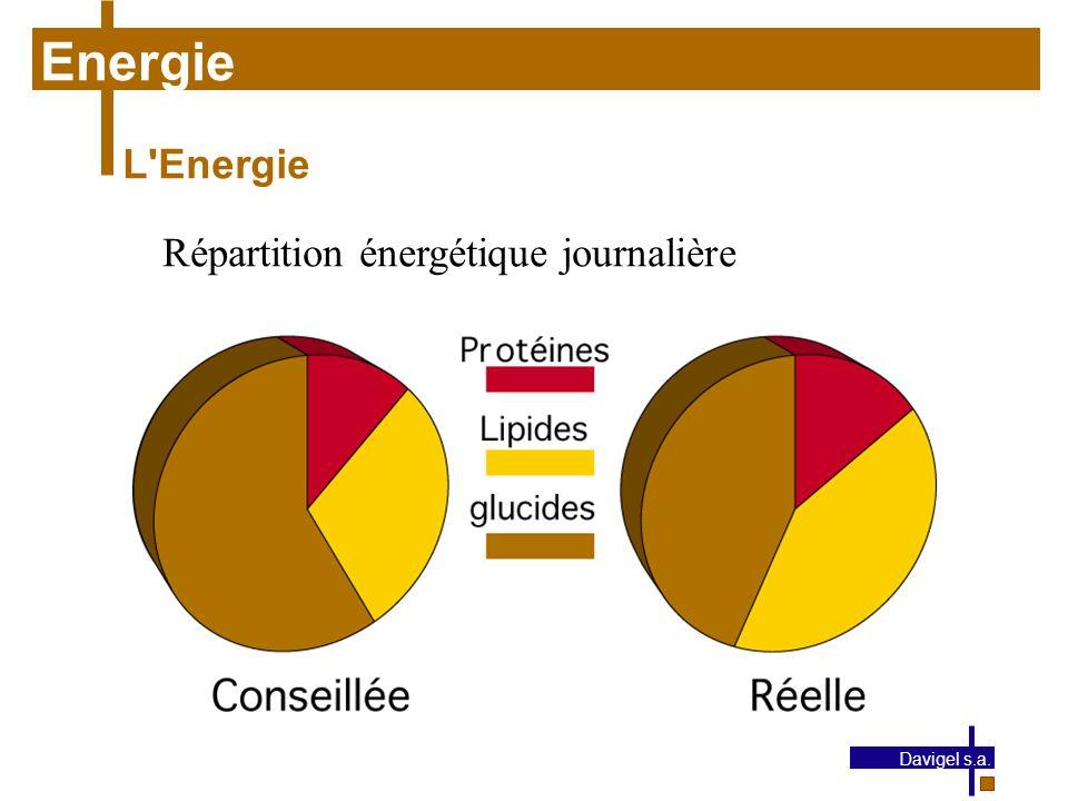 Energie L Energie Répartition énergétique journalière Davigel s.a.