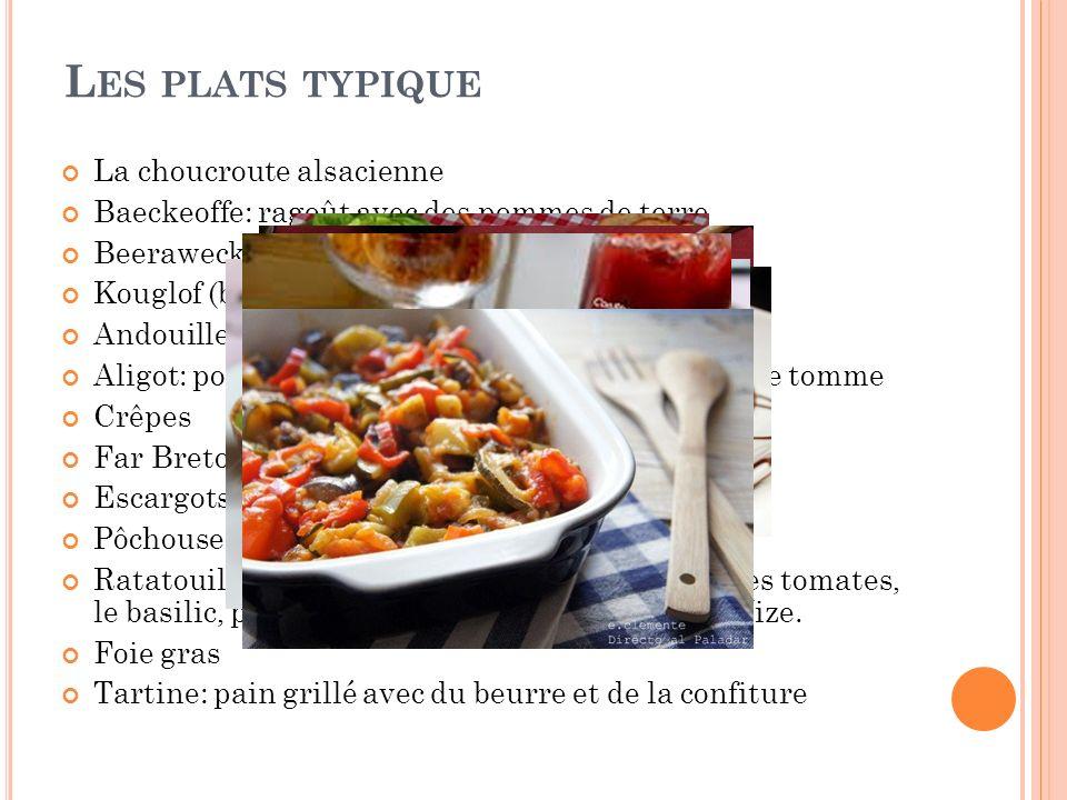 Les plats typique La choucroute alsacienne