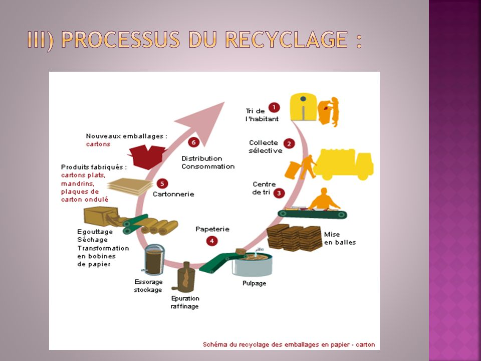 iii) Processus du recyclage :
