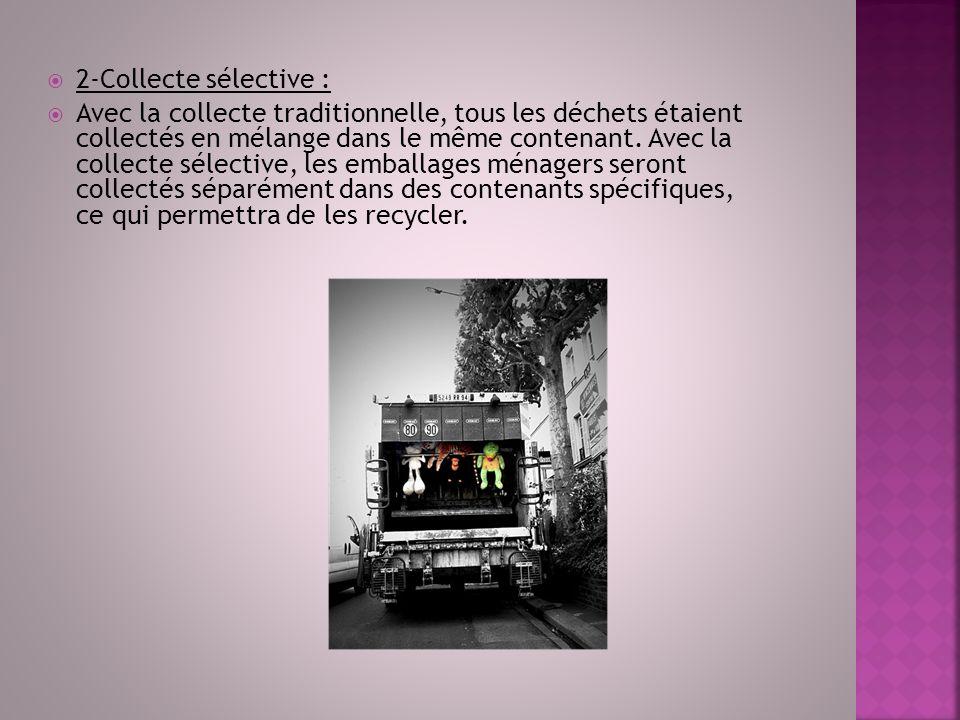 2-Collecte sélective :