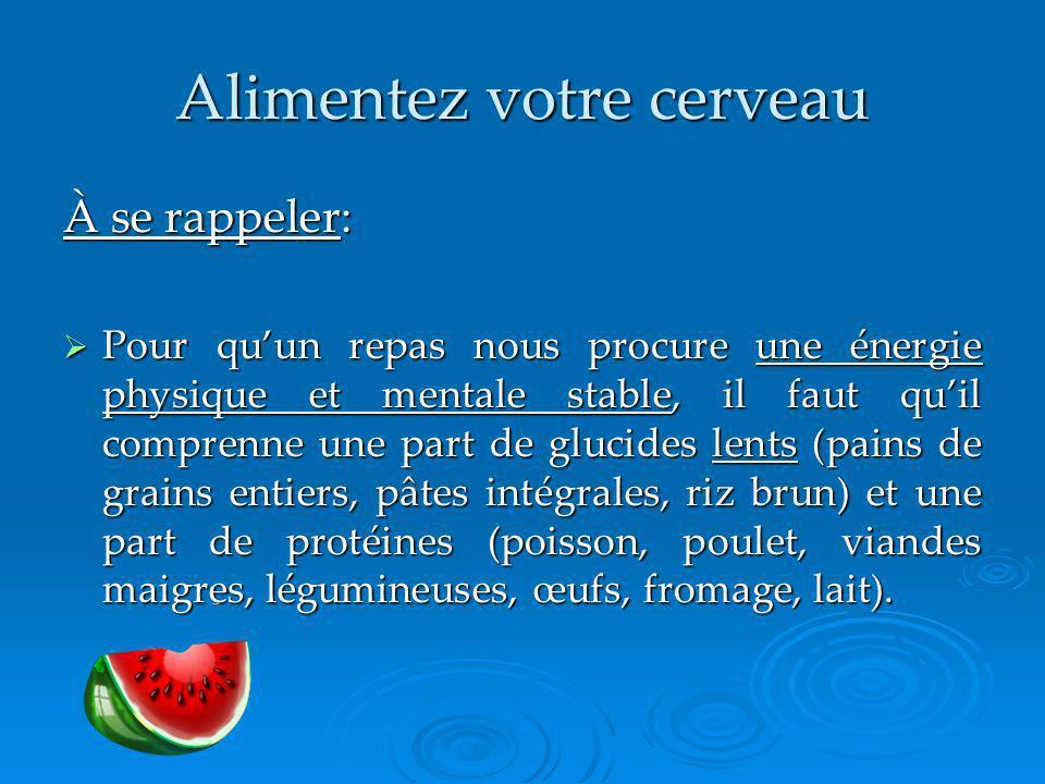 Alimentez votre cerveau