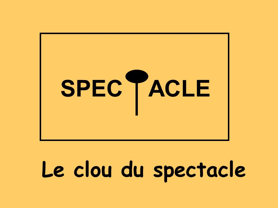 SPEC ACLE Le clou du spectacle