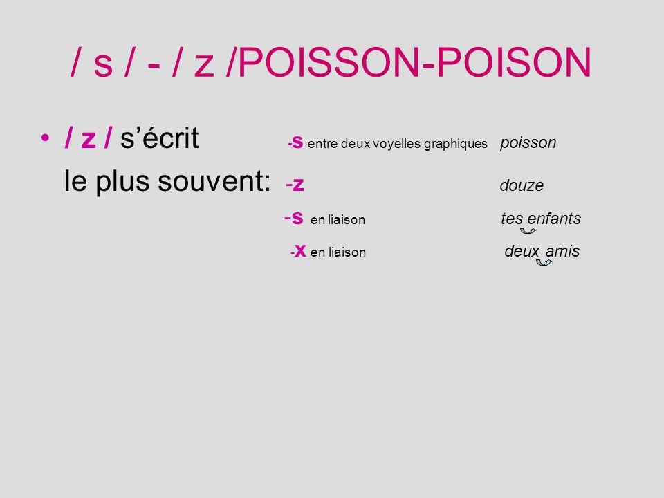/ s / - / z /POISSON-POISON