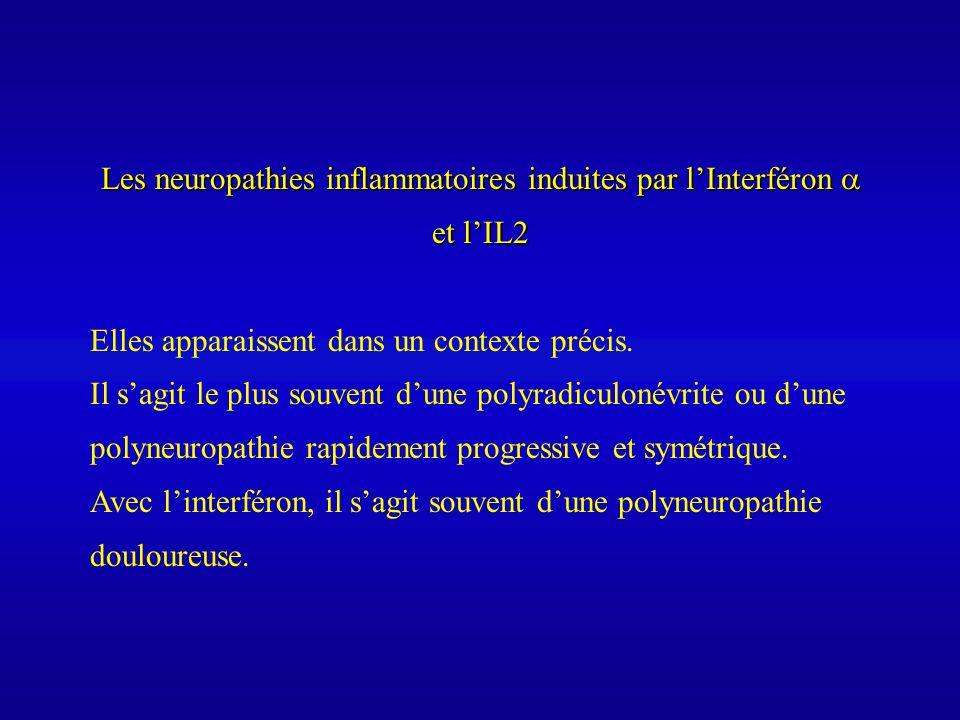 Les neuropathies inflammatoires induites par l'Interféron  et l'IL2