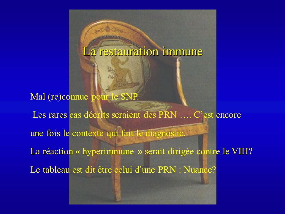 La restauration immune