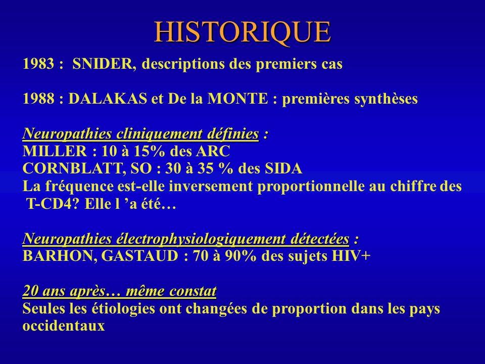 HISTORIQUE 1983 : SNIDER, descriptions des premiers cas