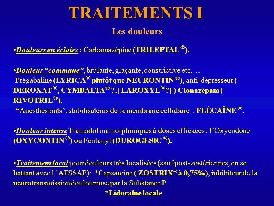 TRAITEMENTS I Les douleurs