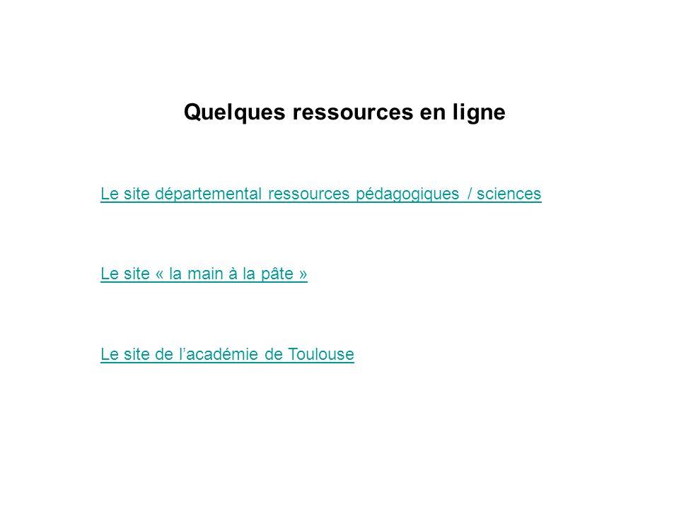 Quelques ressources en ligne