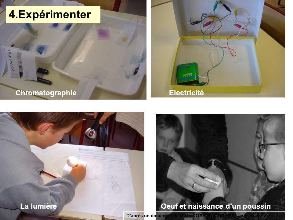 4.Expérimenter Chromatographie Electricité La lumière