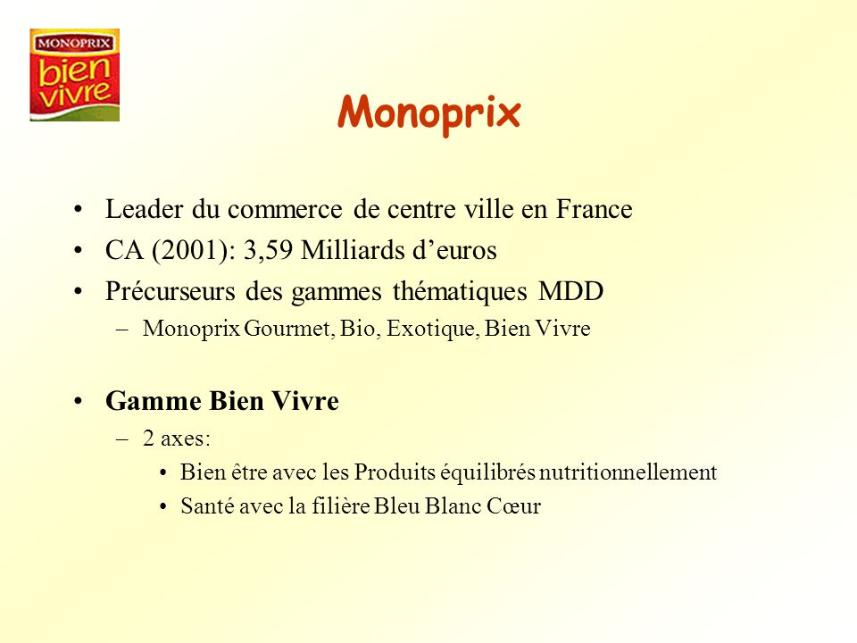 Monoprix Leader du commerce de centre ville en France