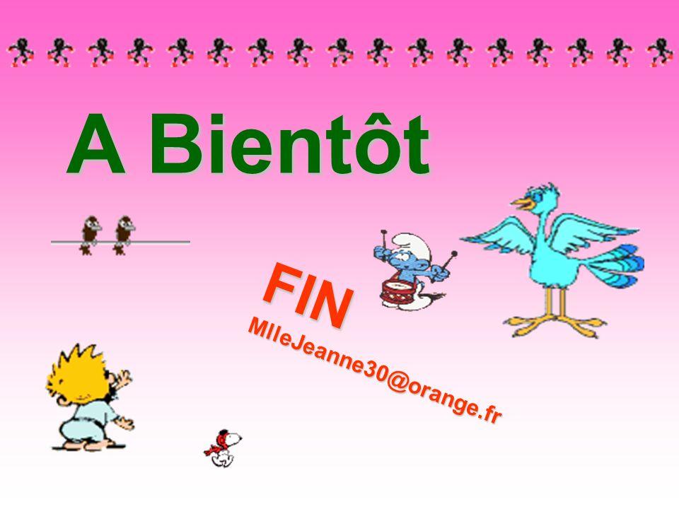 A Bientôt FIN MlleJeanne30@orange.fr