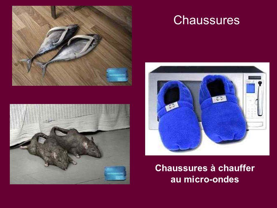 Chaussures à chauffer au micro-ondes