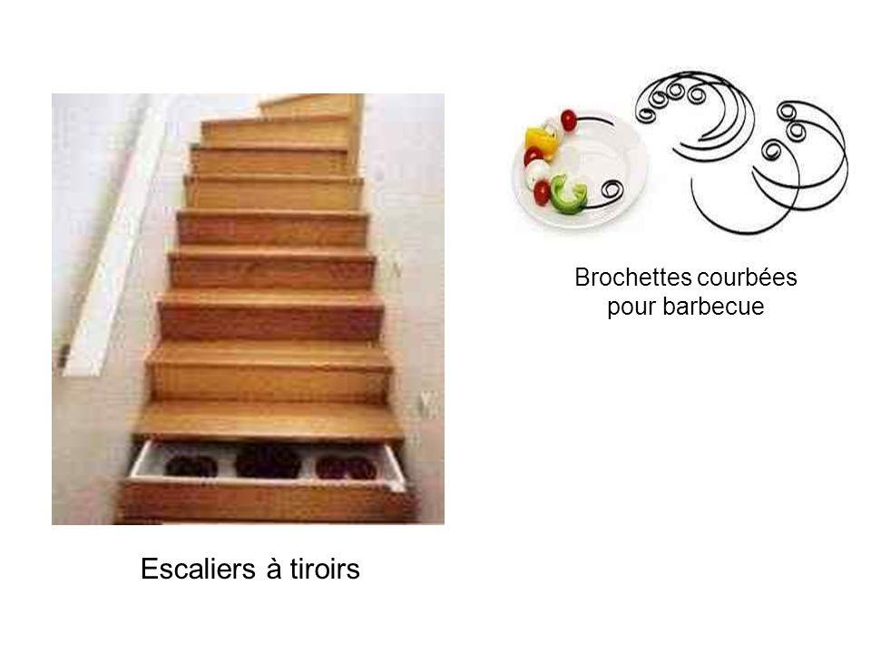 Brochettes courbées pour barbecue Escaliers à tiroirs