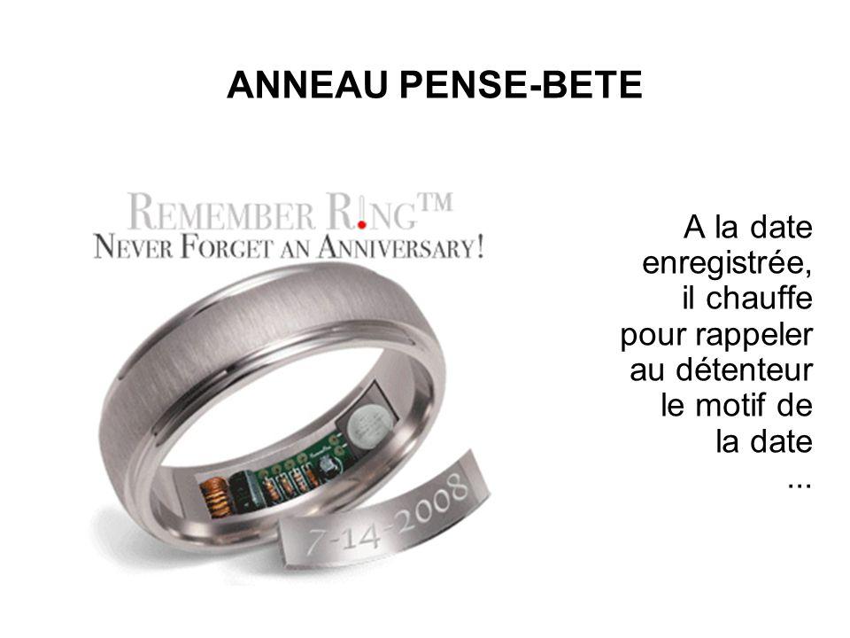 ANNEAU PENSE-BETE A la date enregistrée, il chauffe pour rappeler