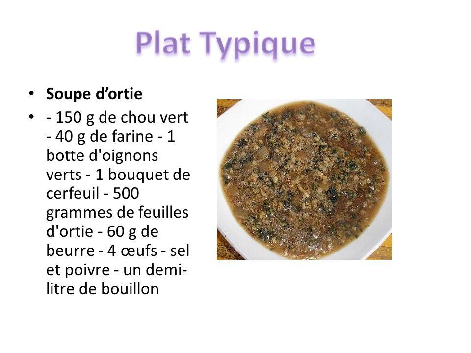 Plat Typique Soupe d'ortie