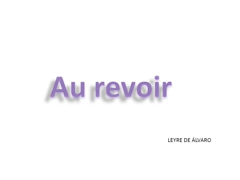 Au revoir LEYRE DE ÁLVARO