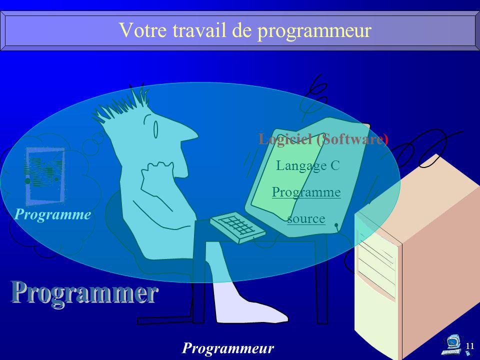 Votre travail de programmeur