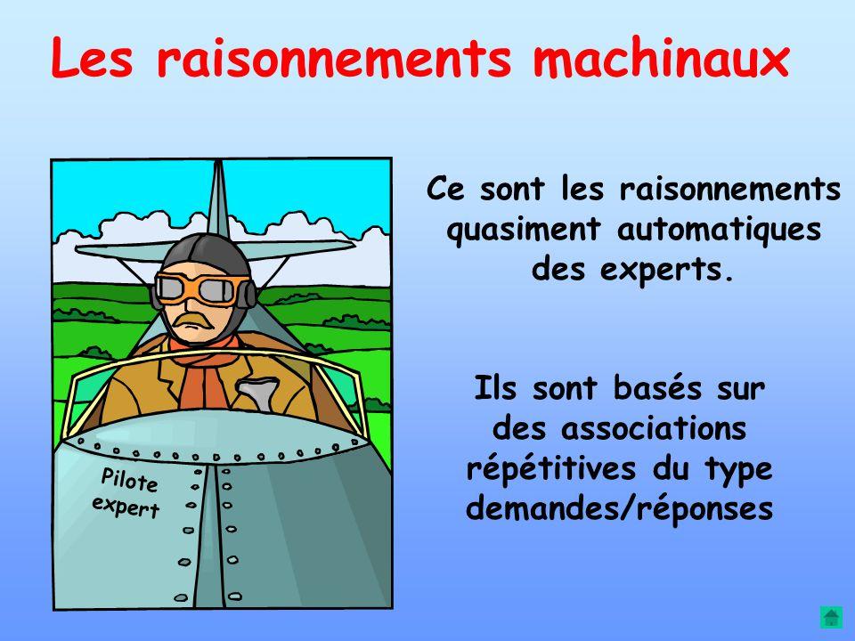 Les raisonnements machinaux