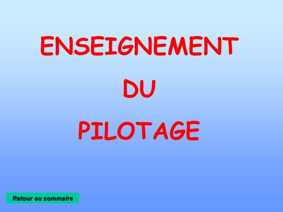 ENSEIGNEMENT DU PILOTAGE
