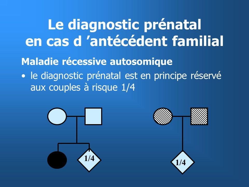 Le diagnostic prénatal en cas d 'antécédent familial