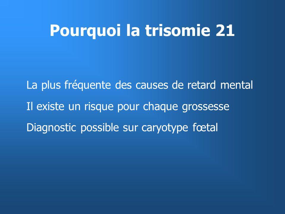 Pourquoi la trisomie 21 La plus fréquente des causes de retard mental