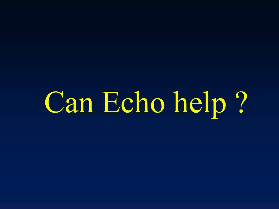 Can Echo help