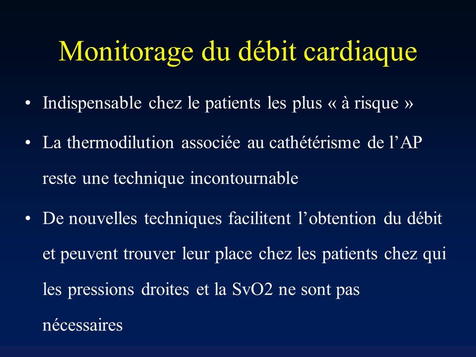 Monitorage du débit cardiaque