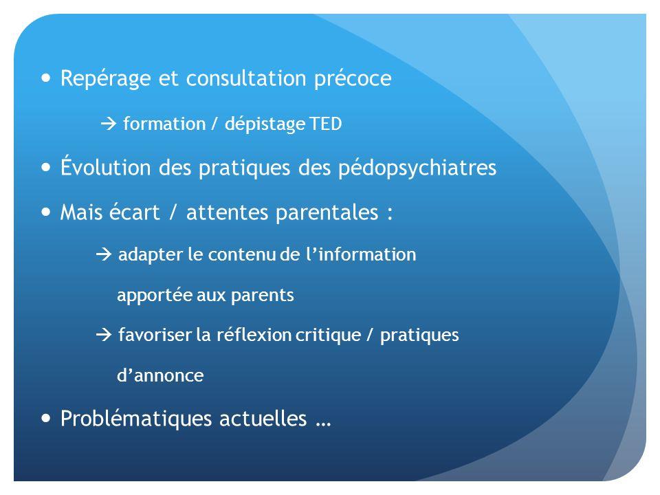 Repérage et consultation précoce  formation / dépistage TED