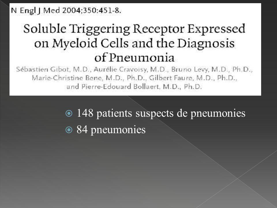 148 patients suspects de pneumonies