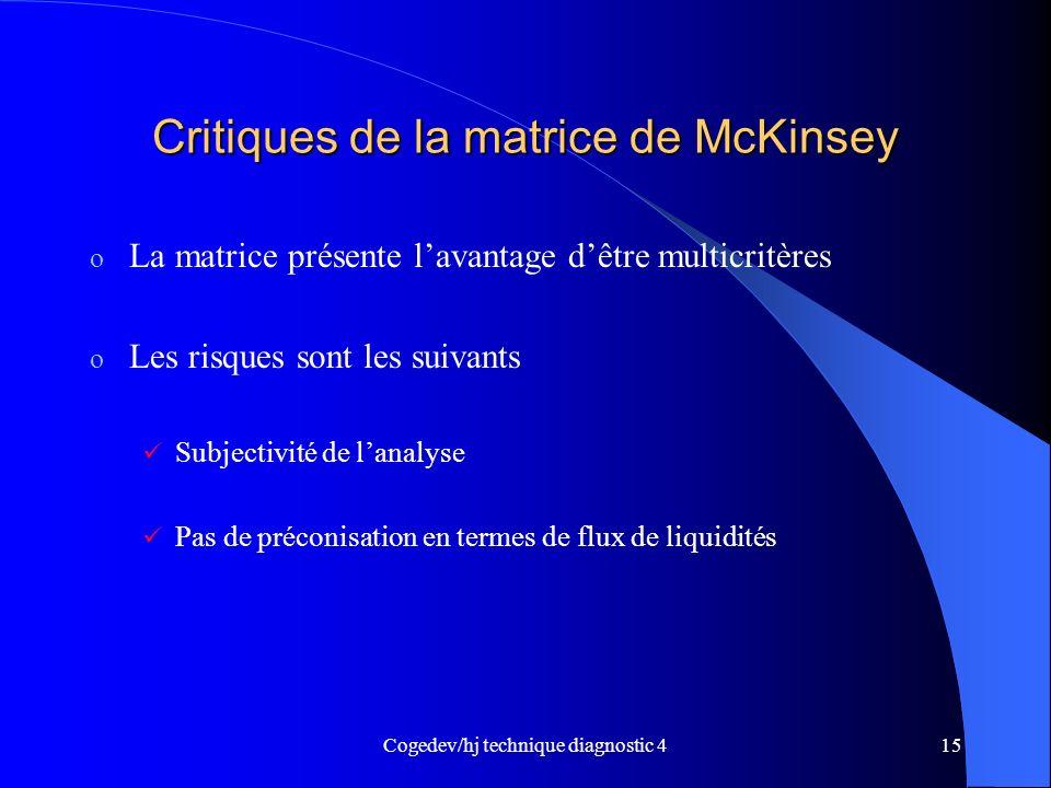 Critiques de la matrice de McKinsey