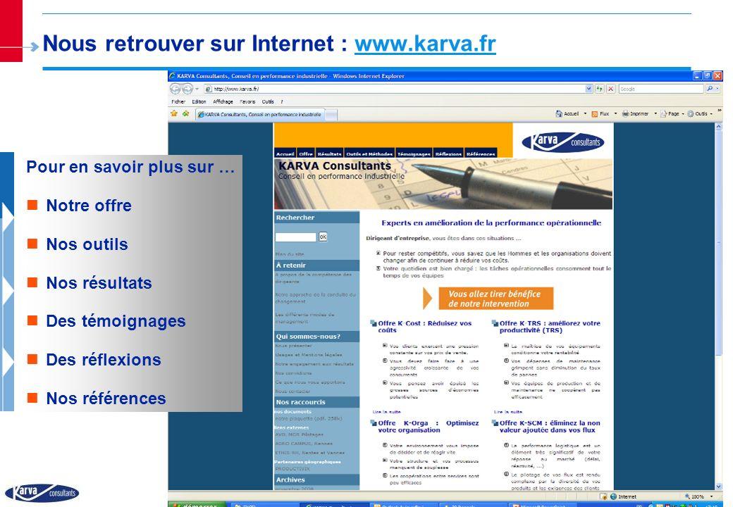 Nous retrouver sur Internet : www.karva.fr