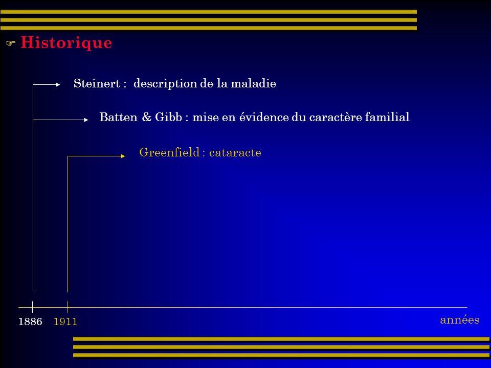 Historique Steinert : description de la maladie