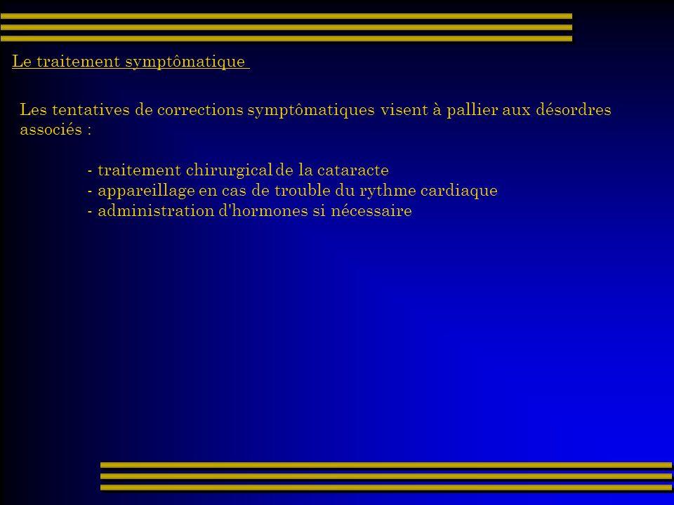 Le traitement symptômatique