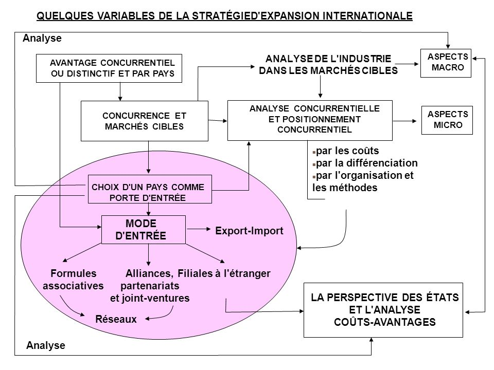QUELQUES VARIABLES DE LA STRATÉGIED EXPANSION INTERNATIONALE