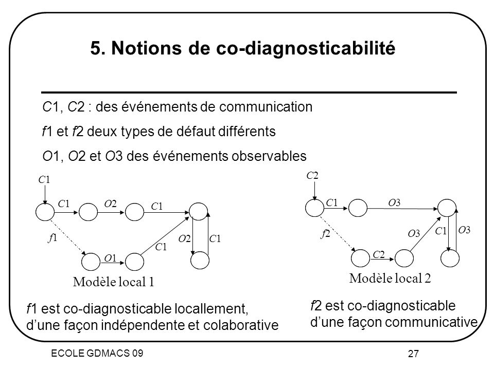 5. Notions de co-diagnosticabilité